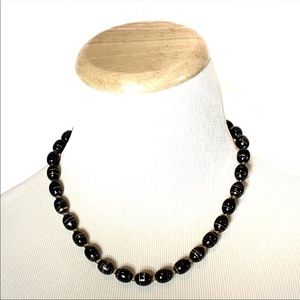 Black and golden beads necklace